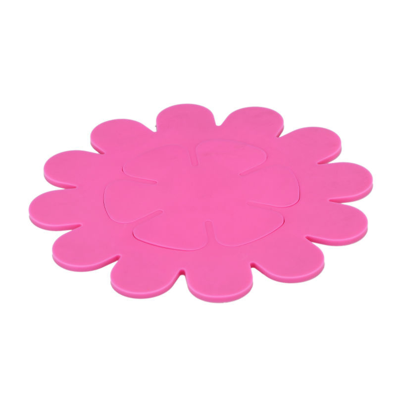 Flower Shape Coasters Silicone Placemat
