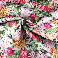 Wholesale Colorful Pink Flowers indian Printing Cotton Fabrics