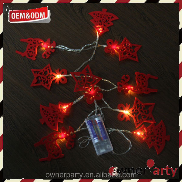 Party Battery Operated Red Christmas Lights