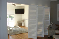 Fast delivery wooden outdoor folding door shutter blinds from Aisen Furniture