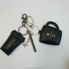 Exquisite Key chain/ custom Key Ring colors and logos Leather key chain Gift Package