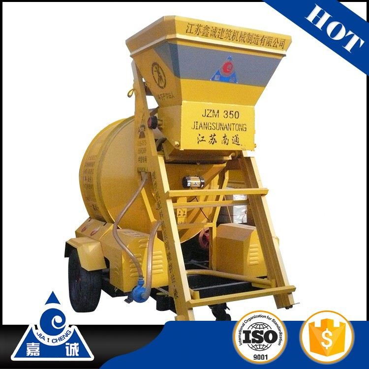 Reversing Drum Concrete Mixer Self loading Reversal Discharging JZM350 cement mixer electric