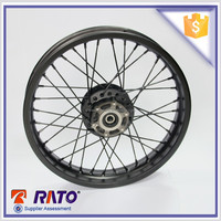 Quality and well front disc-brake motorcycle spoke wheel for sale
