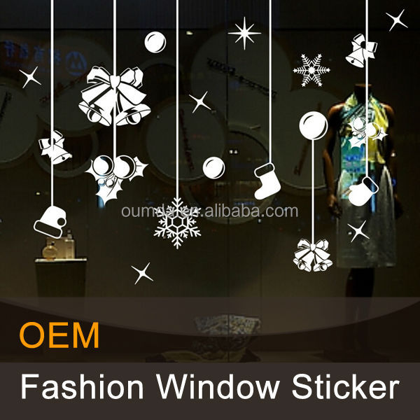 Christmas decorative static electricity sticker window art gel