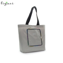 210T Polyester Foldable Tote Bag Reusable Polyester Shopping Bag