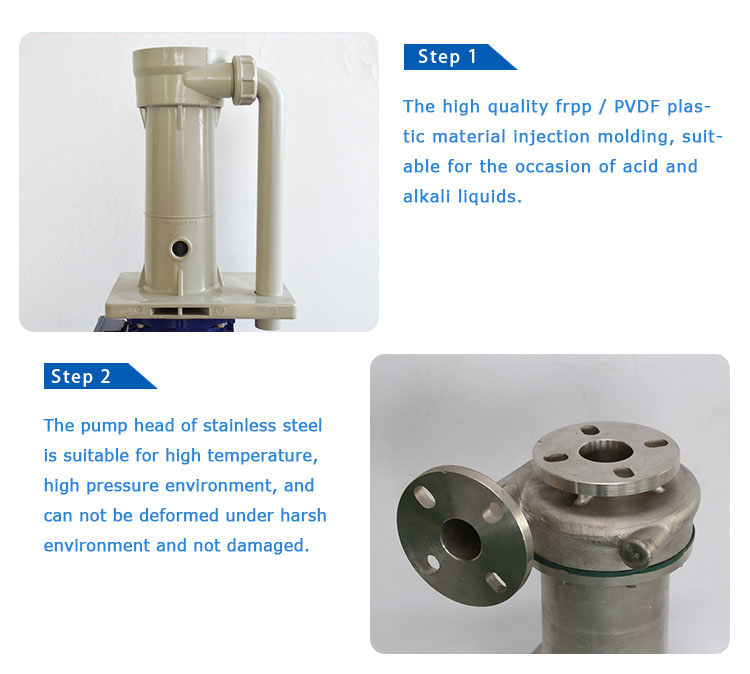 Acid - resistant vertical pump high pressure chemical pump