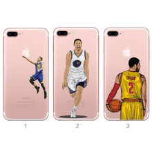Custom made soft TPU transparent clear football team & basketball & soccer phone case for iphone 7