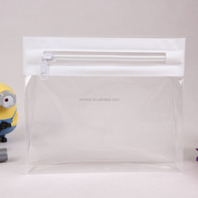 Custom fashion EVA plastic clear transparent zipper cosmetic makeup bag