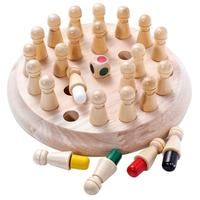 ML-6100 educational board games kids memory chess toys wooden chess games