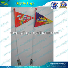 safety flags for bicycles and fiberglass bicycle flag pole