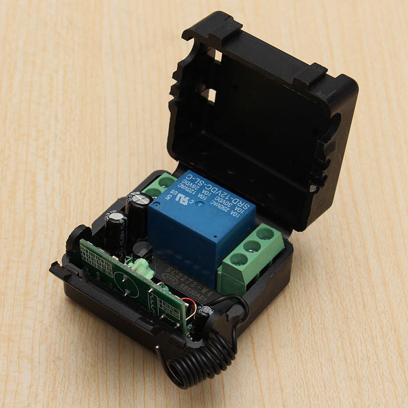 Top Selling for DC 12V 10A 1CH Channel Wireless RF Remote Control Switch Transmitter Receiver Inching Self-locking Interlocking