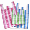 Hot sale HDPE Candy stripe t-shirt bag for shopping