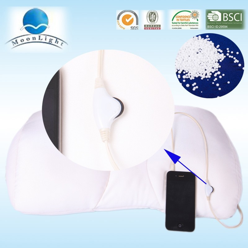 travel neck pillow with music, microbead pillow