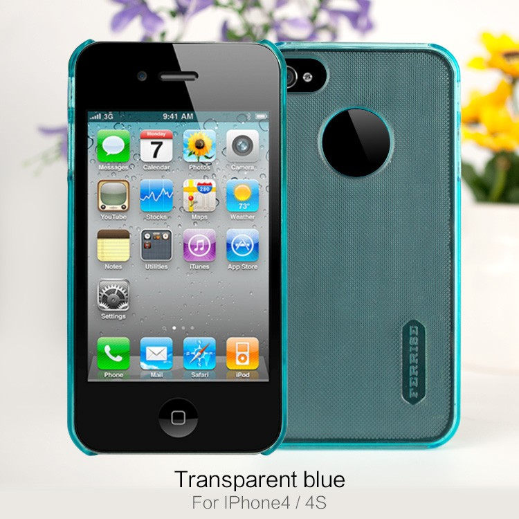 OEM Custom Brand Durable Transparent Hard PC Mobile Phone Case For iPhone 4 4S