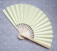 high quality 23cm handmade Bamboo paper fan perfect wedding fan favors