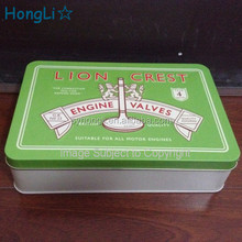 Embossing Metal Tin Engine Valve Parts Package Box/ Tool Tin Package Case