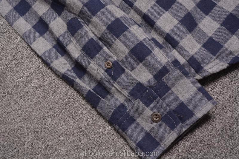 Factory wholesale Top quality men's custom flannel shirt plaid shirt gingham shirt