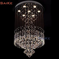 modern chrome chain crystal chandelier waterfall chandelier