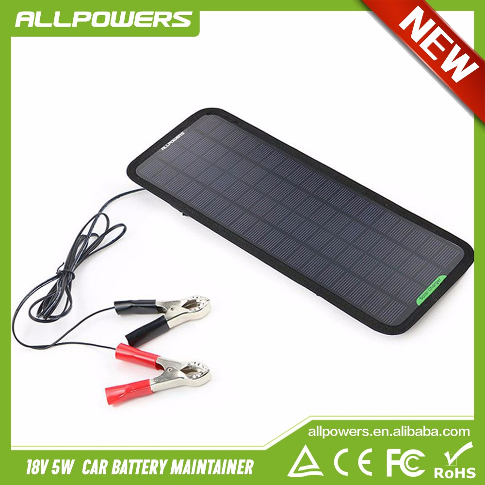 Portable 12V Battery Maintainer Solar charger Trickle Charging for Car Automobile Motor Tractor Boat 12V Batteries.