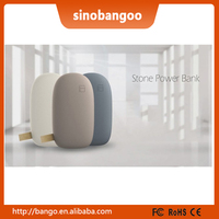 Professional design Stone pebbles mobile power /OEM power bank supplier