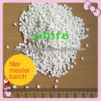 white color Caco3 compound filler masterbatch from China