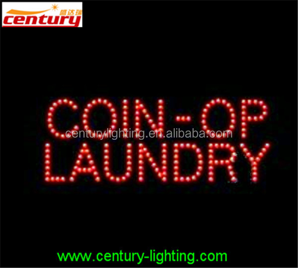 COIN OP LAUNDRY ANIMATED Led Sign