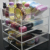 High clear customized acrylic spinning lipstick holder rotatable makeup organizer