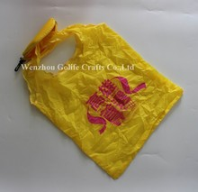 Banana polyester foldable bag for shopping