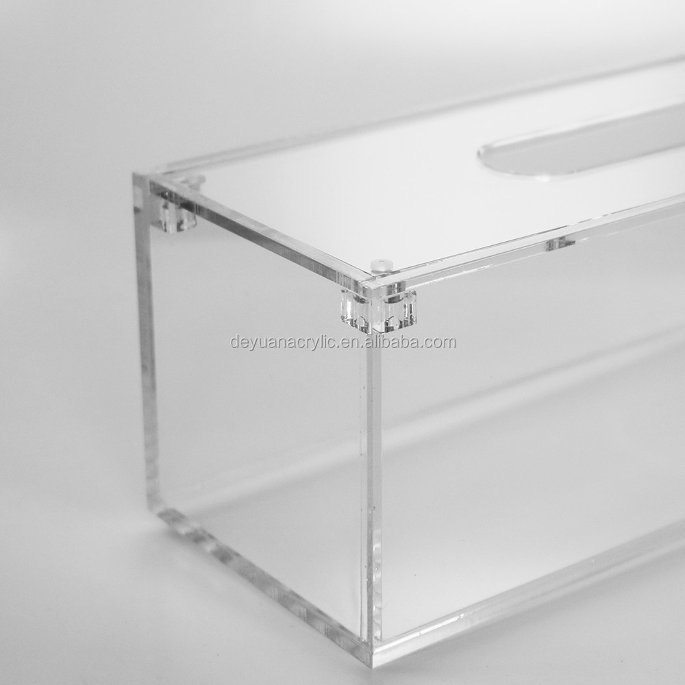 Magnet Lid Clear Acrylic Tissue Box Wholesale Acrylic Tissue Holder