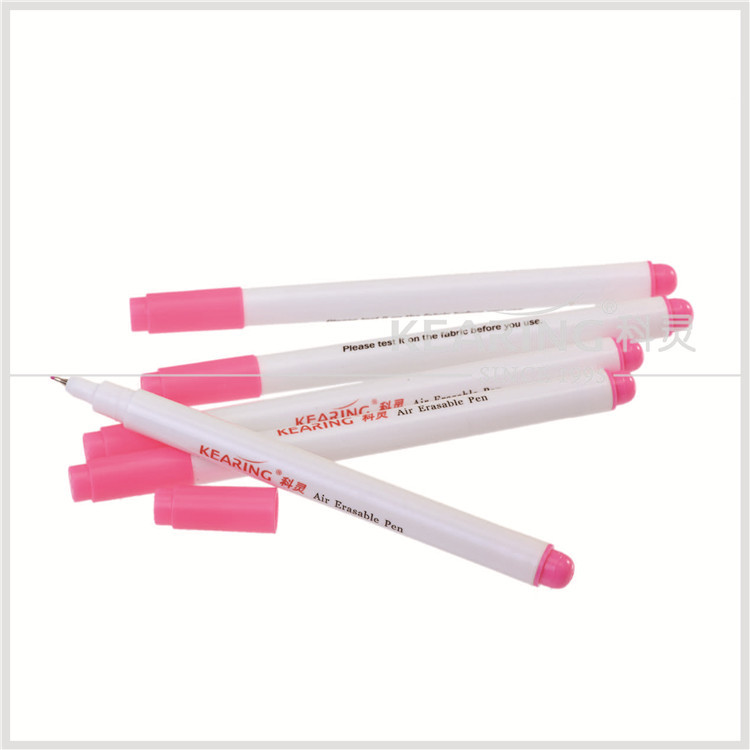 Kearing brand 0.5mm fine tip pink non toxic air erasable marker for temporary marking