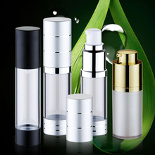 new arrivals 2018 fashion cosmetic packaging 15ml 30ml 50ml airless pump bottle