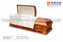 funeral supplies INFANT #58 burial baby wood coffin prices