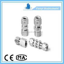 "ss316 twin ferrule fitting 3/16"" straight union union tube fittings"