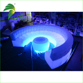 Durable Beautiful Lightin PVC Air Sofa /Flocked Decorative Furniture / Inflatable Sofa With LED Light
