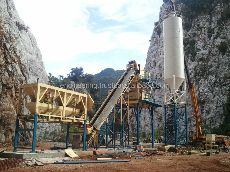 Twin Shaft Mixer Concrete Batching Plant 120m3/h (Made in Malaysia)