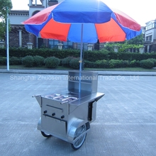 3 Wheels Mobile Hot Dog Cart / 1.1M Electric Hot Dog Trailer / Small Hot Dog Trailer