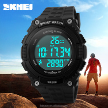 2016 wholesale SKMEI Double Movement Sport digital Watch chronograph auto date watches