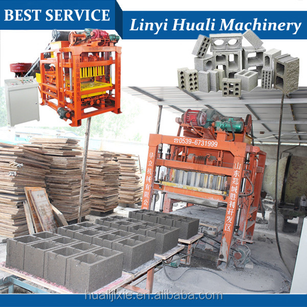 Concrete Block Molding Processing and Concrete Brick Raw Material hollow block making machine