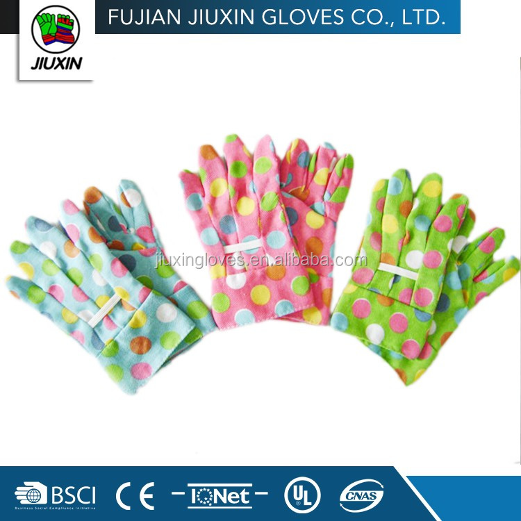 Childrens drill cotton garden cleaning gloves