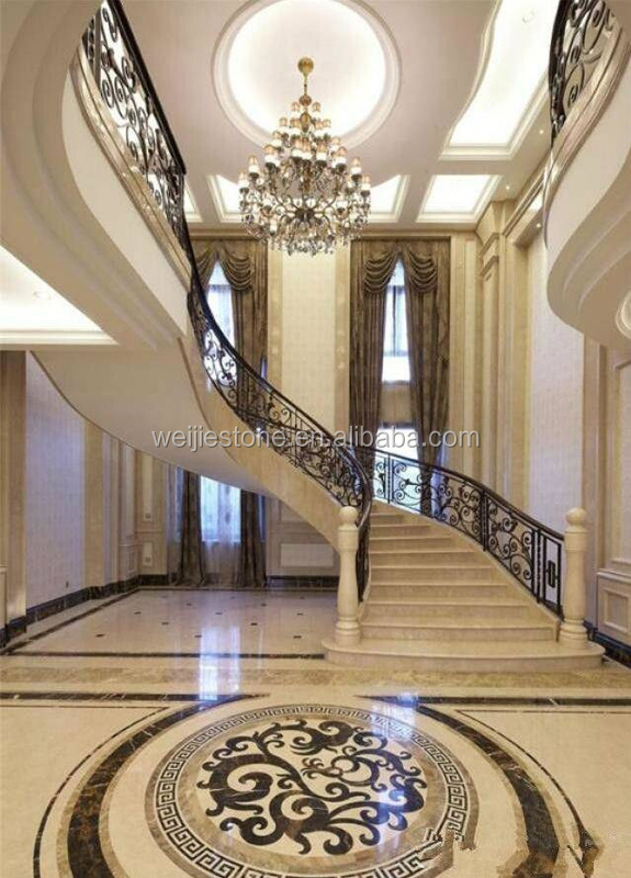 Waterjet Marble Tiles Design Floor PatternMarble Flooring