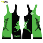custom sublimated usa plus size wrestling singlets