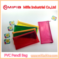 fashion stationery plastic soft clear pvc top ziplock pencil bag with high quality