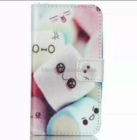 Fashion Flower Smile Tower Wallet Leather stand card holder case For Samsung Galaxy J1 Duos J100