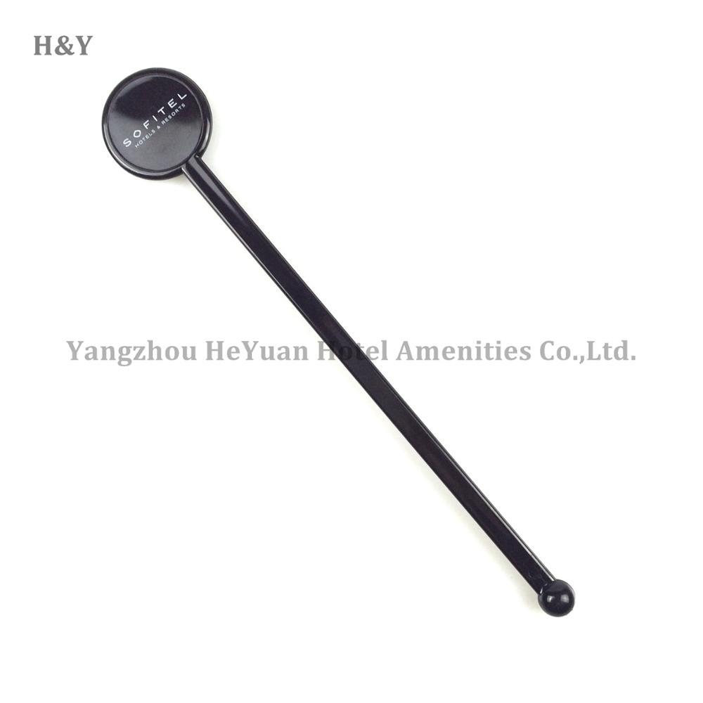 Bar Use Customized Black Plastic Swizzle Stick