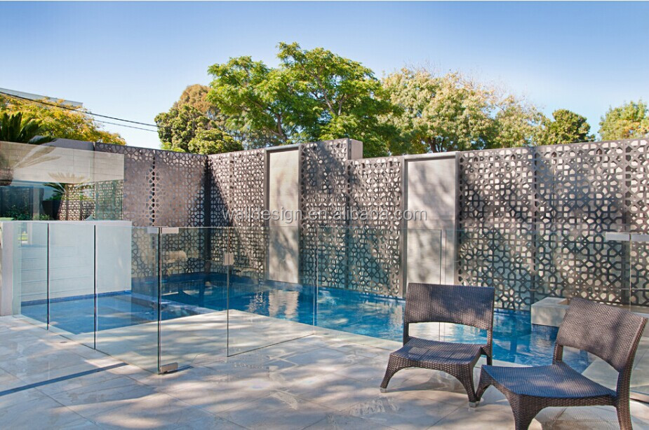 laser cut fence for swimming pool decoration