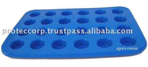 Silicone Bakeware Mini MUFFIN PAN 24 Cups