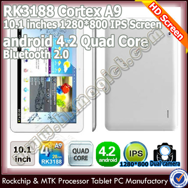2014 rk3188 quad core best <strong>10</strong>.1 inch cheap android tablet bluetooth software