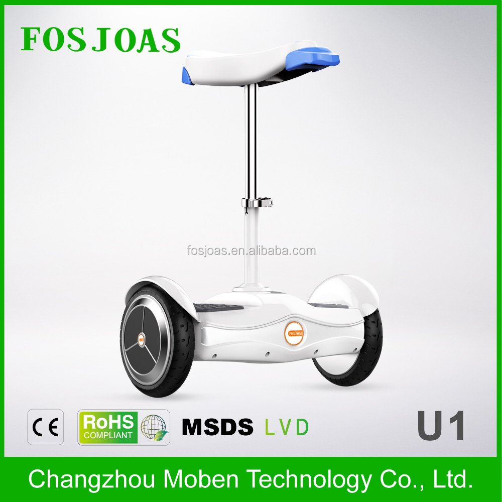 LATEST!!!Fosjoas <strong>U1</strong> Best Airwheel cheap 2 wheel hoverboard with seat With App