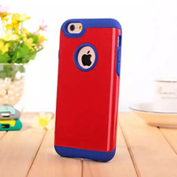 Shockproof Protective Case Hard Plastic+Soft Silicon Rubber Armor Defender Case Cover for Apple iPhone 6