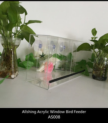 Wholesale plastic bird feeder for the large window bird feeder in China ALLSHING Brand AS008 transparent bird feeders